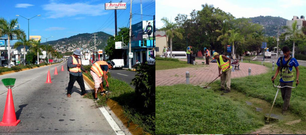 Servicios Públicos da mantenimiento a diferentes espacios públicos del puerto
