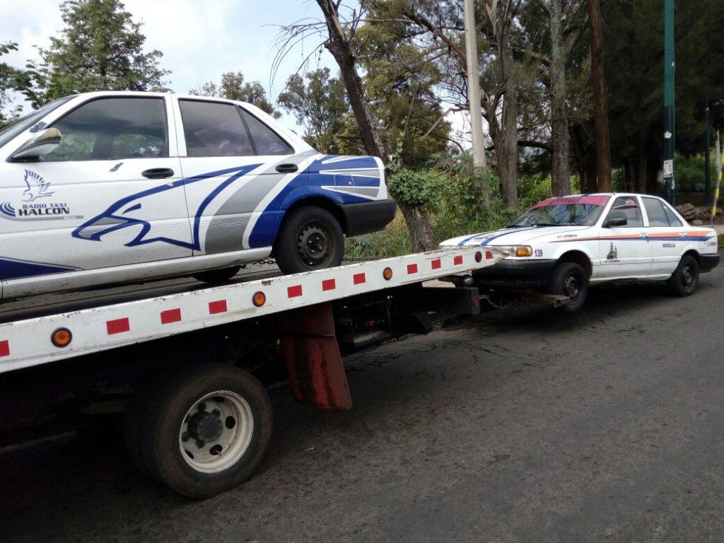 En operativo itinerante, Cocotra detiene 22 unidades irregulares en Morelia