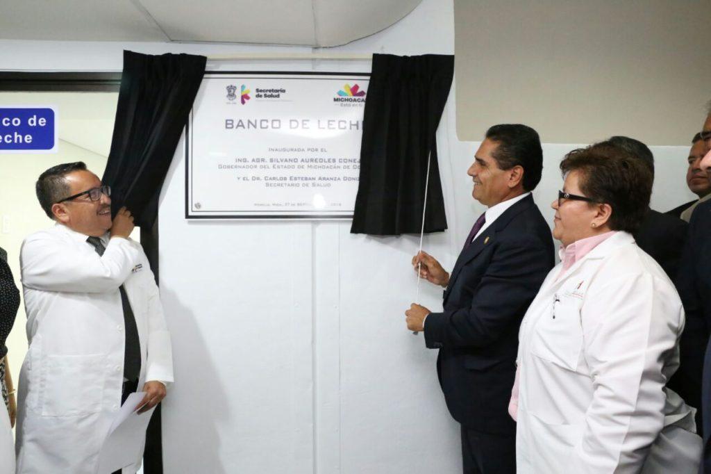 Inaugura Silvano Aureoles Banco de Leche y Tomógrafo en Hospital de la Mujer