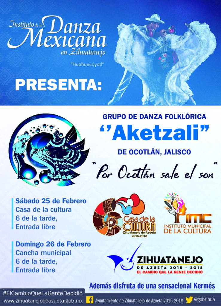 Evento del Instituto de la Danza Mexicana en Zihuatanejo