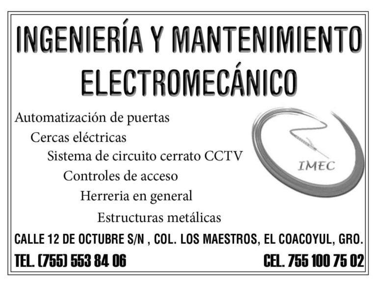 INGENIERÍA Y MANTENIMIENTO ELECTROMECÁNICO