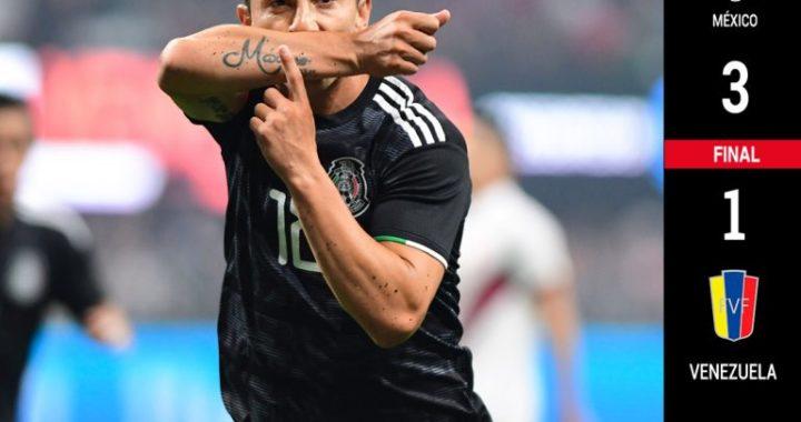 México con paso positivo rumbo a Copa Oro; vence 3-1 a Venezuela