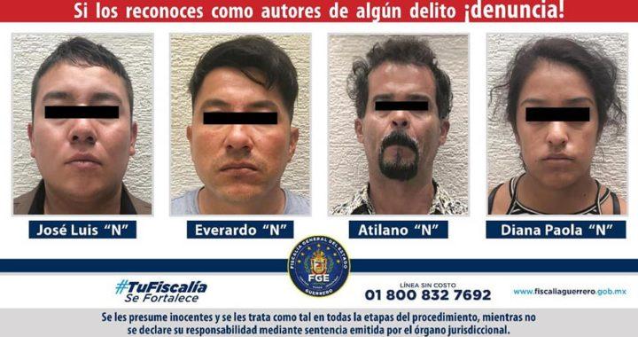 Capturan a banda de secuestradores y liberan víctima menor de edad
