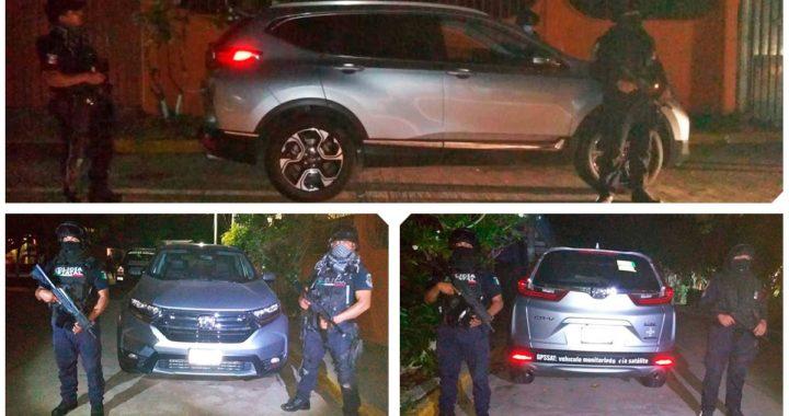 RECUPERA POLICÍA ESTATAL EN ZIHUATANEJO UN VEHÍCULO CON REPORTE DE ROBO CON VIOLENCIA