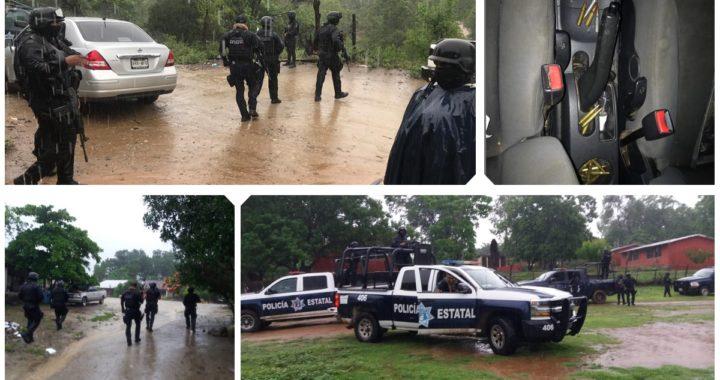 ASEGURAN POLICÍAS ESTATALES ARROYO GRANDE, MUNICIPIO DE LA UNIÓN UN VEHÍCULO Y CARTUCHOS ÚTILES DE USO EXCLUSIVO DE LAS FUERZAS ARMADAS