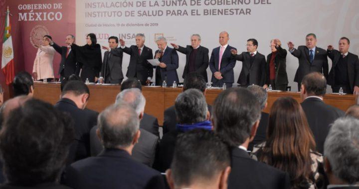ACUDE DE LA PEÑA PINTOS EN REPRESENTACIÓN DEL GOBERNADOR HAF, A INSTALACIÓN DE LA JUNTA DE GOBIERNO DEL INSABI
