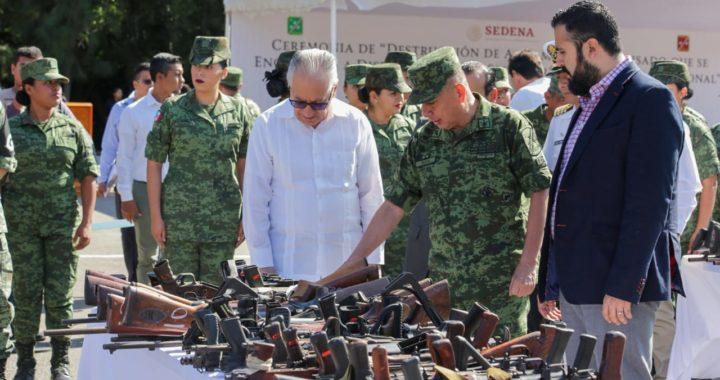 LA DESTRUCCIÓN DE ARMAS SIGNIFICA PAZ Y PREVENIR ACTOS DE VIOLENCIA: FLORENCIO SALAZAR