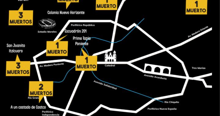 Morelia vive una de las semanas más violentas en su historia: 17 homicidios de lunes a lunes