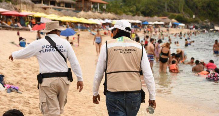 Gobierno de Jorge Sánchez Allec brinda atención a los vacacionistas en playas