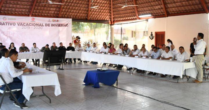Presidente Jorge Sánchez Allec encabeza presentación de operativo vacacional 2019-2020