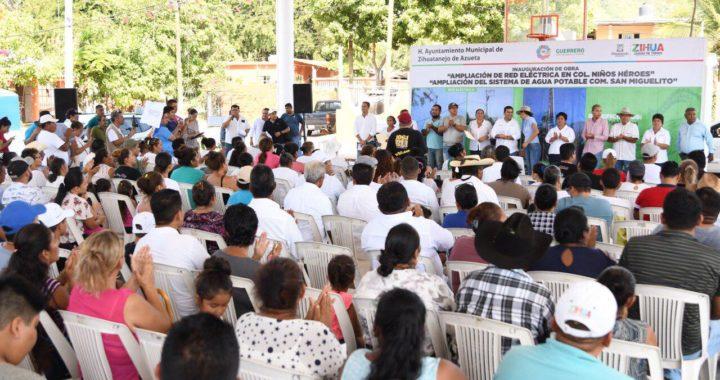 Más de 1,800 beneficiados con obras entregadas por el presidente Jorge Sánchez Allec