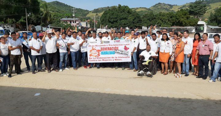 Suman esfuerzos el sector salud, Transportes, Canal 6 y la UTREG para promover respeto por las mujeres en Tecpan