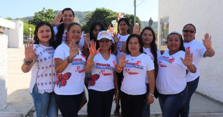 Con actividades diversas culminan 16 días de acciones por los derechos de las mujeres en Tecpan