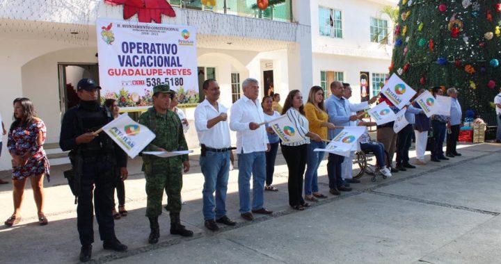 ARRANCA EL OPERATIVO DE SEGURIDAD VACACIONAL GUADALUPE REYES 2019 EN PETATLÁN, ESTEBAN CÁRDENAS.