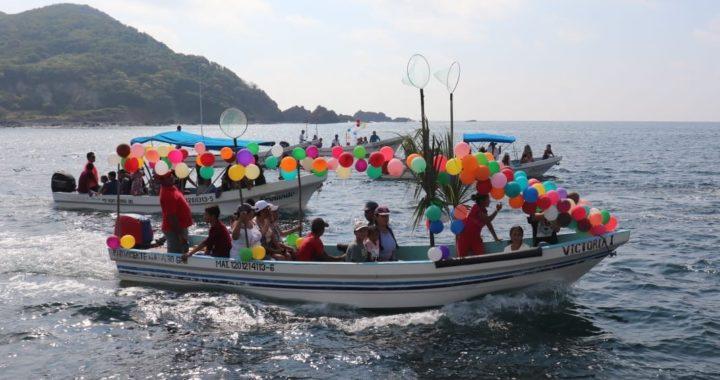 Celebran con recorridos en lanchas en Puerto Vicente Guerrero el Día de San Andrés Pescador