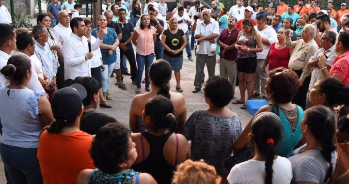 Presidente Jorge Sánchez Allec da inicio a dignificación de cancha y calle en la Zapata