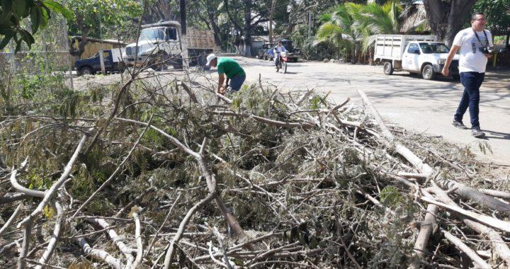 Entre 20 y 25 toneladas de basura recolecta Saneamiento Básico en Tenexpa y Villa Rotaria tras contingencia