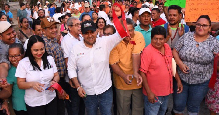 Presidente Jorge Sánchez Allec cumple con la pavimentación de otras tres calles
