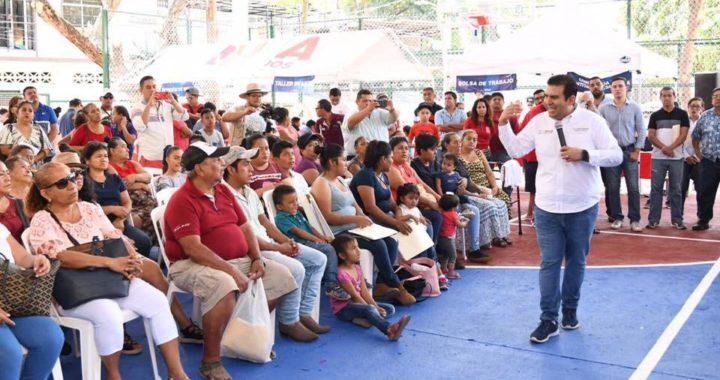 Presidente Jorge Sánchez Allec entrega otra cancha deportiva dignificada