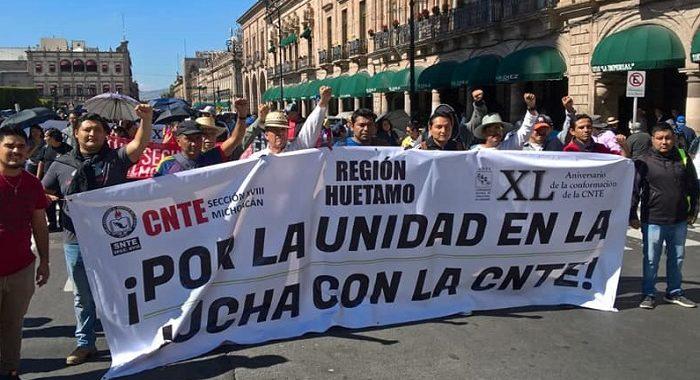 Persisten desacuerdos por la dirigencia entre grupos de la CNTE en Michoacán