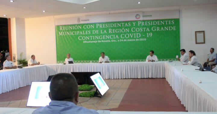 INICIA EL GOBERNADOR HÉCTOR ASTUDILLO REUNIONES REGIONALES DE INFORMACIÓN CON PRESIDENTES MUNICIPALES POR COVID-19