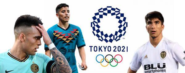 Los futbolistas que podrían perderse Tokio 2021