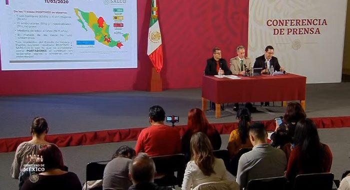 En 24 horas se registran 5 nuevos casos de coronavirus en México; suman 12 contagios