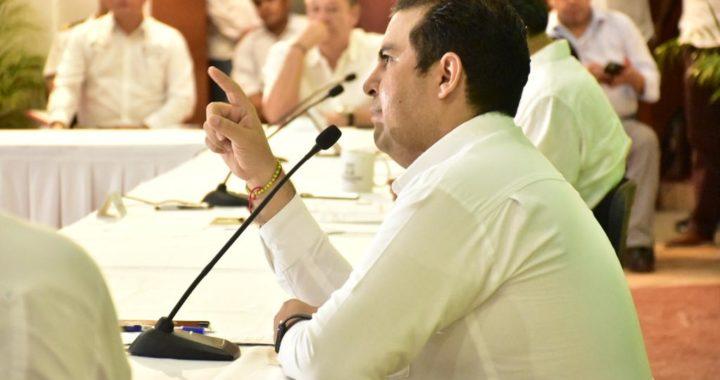 Alcalde Jorge Sánchez asiste a reunión que el gobernador Astudillo encabezó con alcaldes