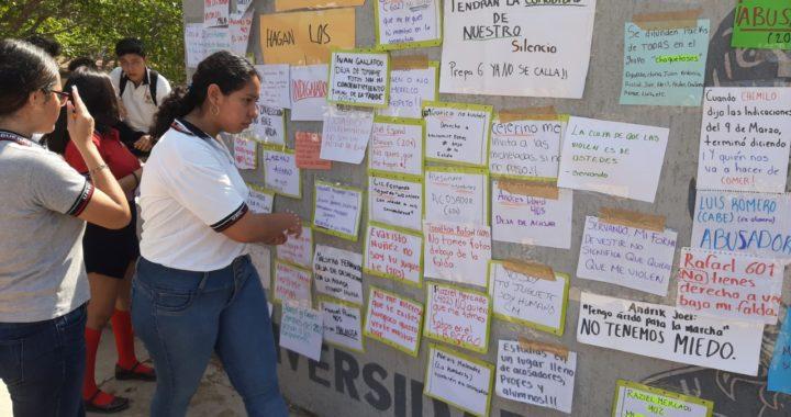 Protestan alumnas de la Preparatoria 6 de Tecpan, denuncian acoso y violencia sexual