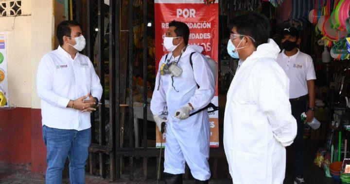 Supervisa alcalde Jorge Sánchez filtros sanitarios en Zihuatanejo