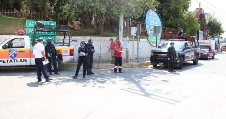 COMIENZA OPERATIVO EN PETATLÁN PARA EL USO OBLIGATORIO DE CUBREBOCAS