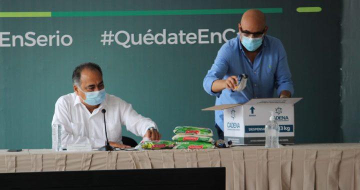RECIBE GOBERNADOR HÉCTOR ASTUDILLO DONACIÓN DE 130 MIL KILOS DE AYUDA ALIMENTARIA DE COMUNIDAD JUDÍA DE MÉXICO