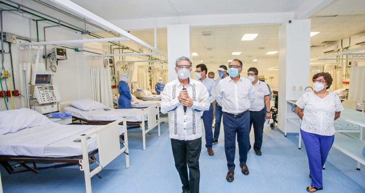 REFUERZAN CAPACIDAD HOSPITALARIA, RECORRE EL GOBERNADOR OTRA UNIDAD COVID-19 EN IGUALA