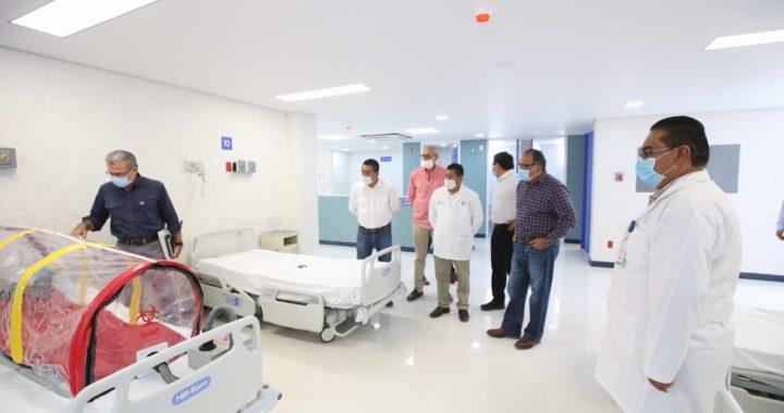 CUMPLE ASTUDILLO FLORES SU COMPROMISO DE TENER UN ÁREA COVID-19 EN EL HOSPITAL GENERAL DE TLAPA