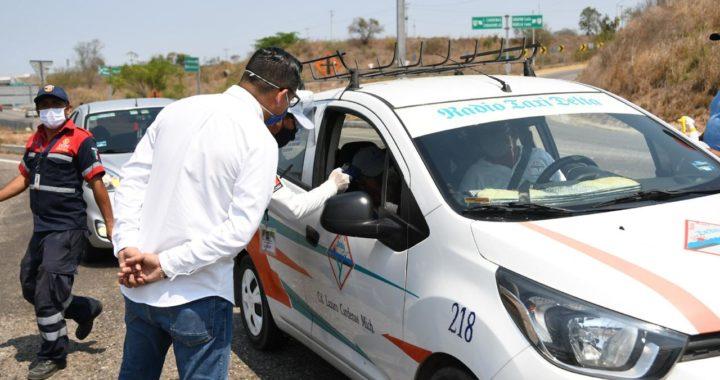 Gobierno de Zihuatanejo coordina acciones con La Unión en Filtro Sanitario COVID-19
