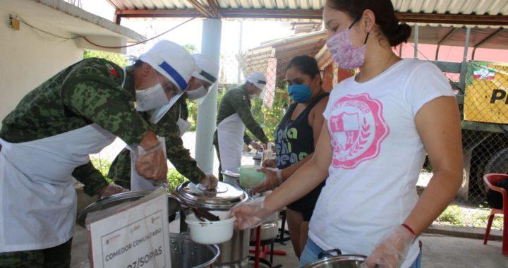 SE INSTALARON COMEDORES COMUNITARIOS EN LAS COMUNIDADES DE COYUQUILLA NORTE Y SUR EN PETATLÁN.