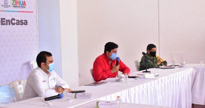 Presidente Jorge Sánchez informa a Gobernador HAF acciones implamentadas ante COVID-19