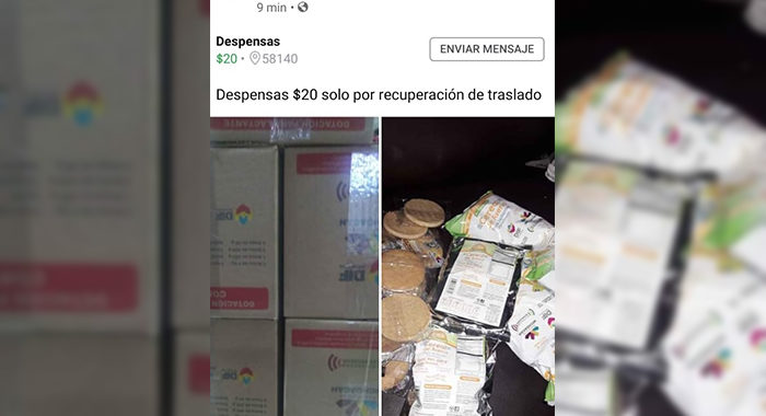Se detecta a particulares vendiendo despensas del DIF Estatal en redes sociales