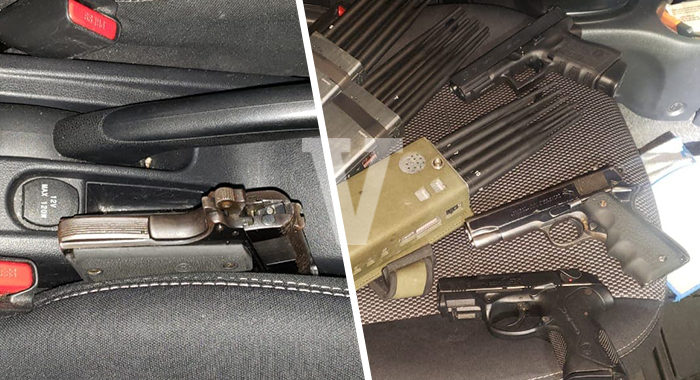 Capturan a 2 personas en la autopista «Siglo XXI»; traían armas e inhibidores de señal