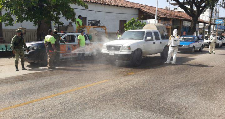 Encabeza personal de la Sedena y del ayuntamiento campaña de fumigación en Tecpan