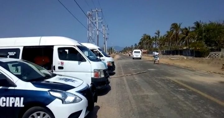 Obliga Tránsito de Coyuca de Benítez a usar cubrebocas a transportistas
