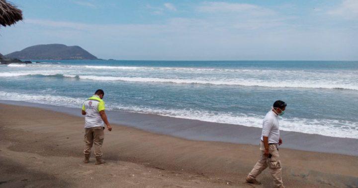Realiza PC monitoreo en varias playas del municipio de Tecpan tras el terremoto