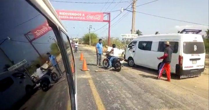 Se niegan a levantar filtro sanitario en La Barra de Coyuca