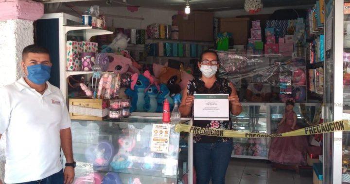 Gobierno municipal y comerciantes intensifican medidas de prevención ante COVID-19