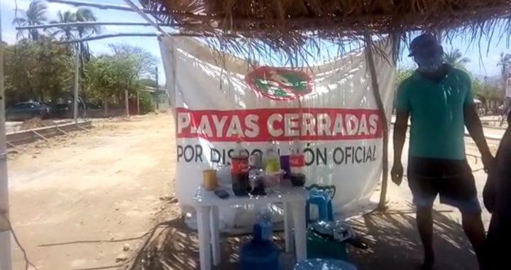 Cumplen tres meses con filtro sanitario en la Barra de Coyuca de Benítez