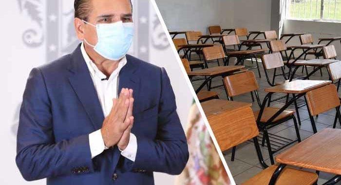 Hasta enero de 2021, regreso a las escuelas en Michoacán: Silvano