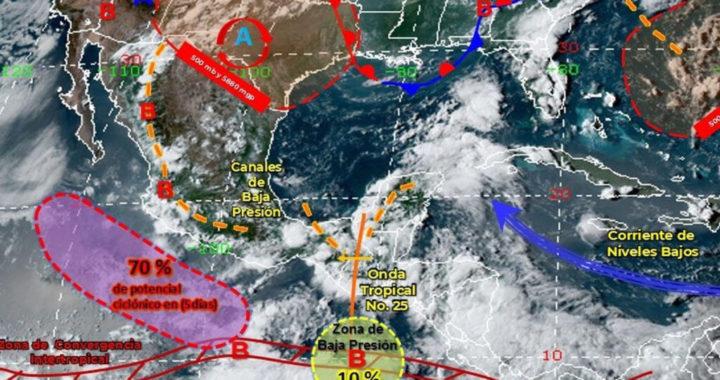 Apatzingán y Morelia, en alerta por ciclón que generará inundaciones por lluvias intensas