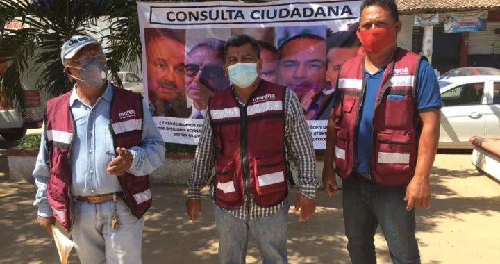 Comienza Morena consulta para enjuiciar a expresidentes de México en Petatlán