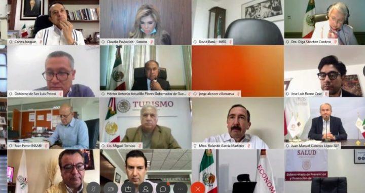 PARTICIPA GOBERNADOR ASTUDILLO EN LA REUNIÓN DE LA CONAGO, EN LA QUE SE LE DA ATENCIÓN Y SEGUIMIENTO A LA PANDEMIA POR EL COVID-19