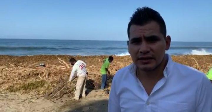 Pide alcalde de Tecpan la cooperación de todos para limpiar las playas de Bahías de Papanoa